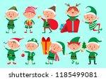 Christmas Elf Character. Santa...