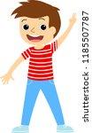happy school multiracial... | Shutterstock .eps vector #1185507787