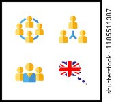 union icon. great britain and... | Shutterstock .eps vector #1185511387