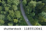 aerial  top down  white car... | Shutterstock . vector #1185513061