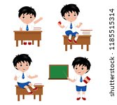 collection of cute boys in... | Shutterstock .eps vector #1185515314