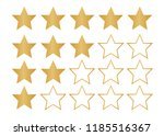 5 star rating icon. star rate... | Shutterstock . vector #1185516367