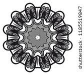 round pattern flower mandala.... | Shutterstock .eps vector #1185519847