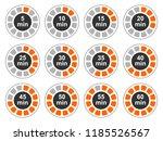 timer icons set  twelve timer... | Shutterstock .eps vector #1185526567
