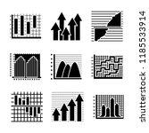 creative infographics glyph... | Shutterstock .eps vector #1185533914