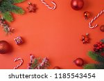 christmas holiday background... | Shutterstock . vector #1185543454