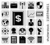 set of 22 business icons ... | Shutterstock .eps vector #1185546811