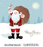 santa claus  greeting card...   Shutterstock .eps vector #118555231