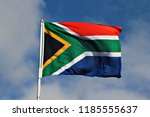 national flag of south africa... | Shutterstock . vector #1185555637