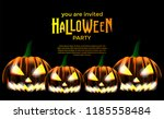 halloween invitation template... | Shutterstock .eps vector #1185558484