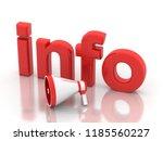 3d illustration megaphone with...   Shutterstock . vector #1185560227