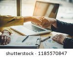 encourage unity in the team who ...   Shutterstock . vector #1185570847