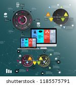 abstract infographics template. ... | Shutterstock .eps vector #1185575791
