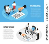 notary service isometric... | Shutterstock .eps vector #1185576574
