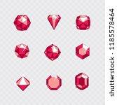 set of vector shining gemstone... | Shutterstock .eps vector #1185578464