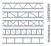 steel truss girder seamless...   Shutterstock .eps vector #1185578554