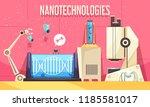 nanotechnologies horizontal... | Shutterstock .eps vector #1185581017
