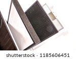 removable filters. air purifier ... | Shutterstock . vector #1185606451