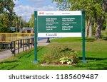 sign of trent severn waterway... | Shutterstock . vector #1185609487