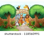 Illustration Of A Zoo And...