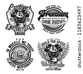 vintage labels set with... | Shutterstock .eps vector #1185623497