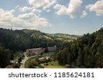 bran  romania   august 15  2018 ... | Shutterstock . vector #1185624181