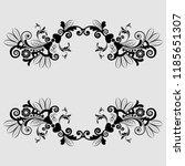 vector vintage floral ...   Shutterstock .eps vector #1185651307
