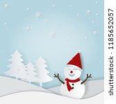 illustration of paper art and... | Shutterstock .eps vector #1185652057