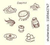 vector illustration. cereals...   Shutterstock .eps vector #1185662767