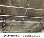 interior construction of... | Shutterstock . vector #1185673177