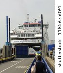 arrival and unloading car ferry ... | Shutterstock . vector #1185675094