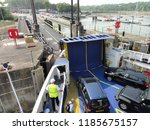 arrival and unloading car ferry ... | Shutterstock . vector #1185675157