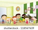 illustration of kids playing... | Shutterstock . vector #118567639