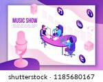 music show isometric 3d... | Shutterstock .eps vector #1185680167