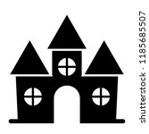 castle solid icon. fortress web ...   Shutterstock .eps vector #1185685507