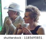beautiful and femme fatale... | Shutterstock . vector #1185695851
