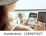 Small photo of TROGIR, CROATIA - SEPTEMBER 13th, 2018: Woman is installing Airbnb application on Nokia smartphone. Airbnb is an online marketplace and hospitality service, enabling people to lease or rent lodging