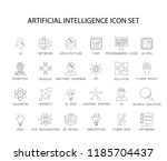 line icons set. artificial... | Shutterstock .eps vector #1185704437