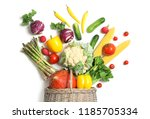 flat lay composition with fresh ... | Shutterstock . vector #1185705334