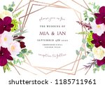 luxury fall flowers vector... | Shutterstock .eps vector #1185711961