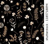 seamless floral pattern with...   Shutterstock .eps vector #1185718894