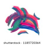 abstract colorful brushstrokes... | Shutterstock . vector #1185720364