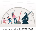 the concept of the danger of... | Shutterstock .eps vector #1185722347