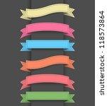 ribbon banners | Shutterstock .eps vector #118573864