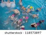 happy children kids group  at... | Shutterstock . vector #118573897