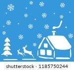 christmas landscape for the... | Shutterstock .eps vector #1185750244