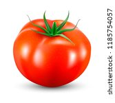 tomato isolated on white. photo ... | Shutterstock .eps vector #1185754057