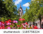 tower of the 'old church' from... | Shutterstock . vector #1185758224