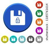 unlock file round color beveled ...   Shutterstock .eps vector #1185761614