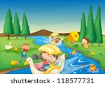 illustration of a river and... | Shutterstock . vector #118577731